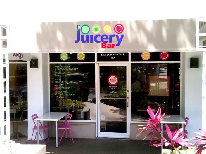 PVC Letters Juicery Bar
