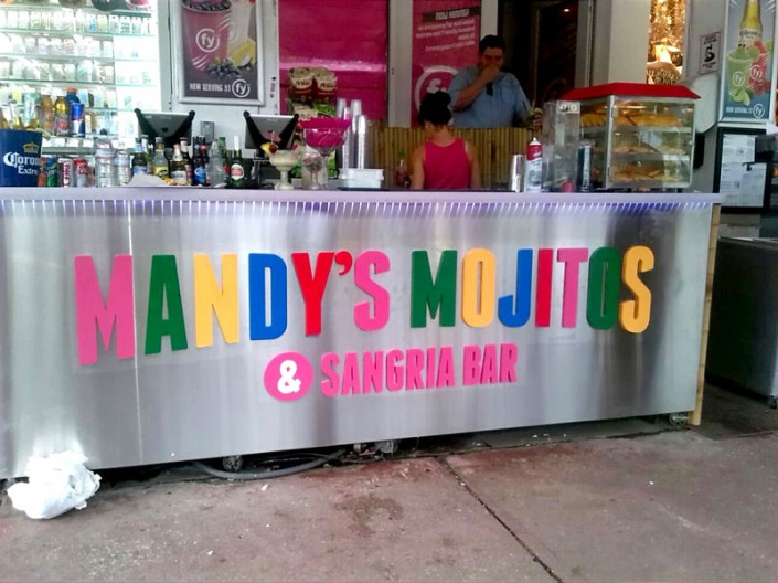 PVC Letters Mandy's Mojitos