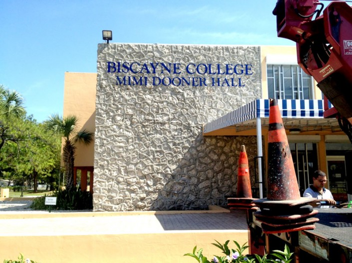 PVC Letters Biscayne College