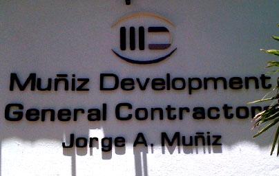 PVC Letters General Contractors