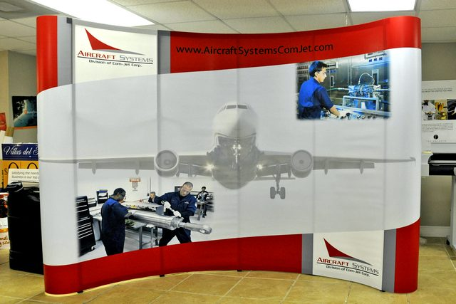 Aircraft Booth Graphic