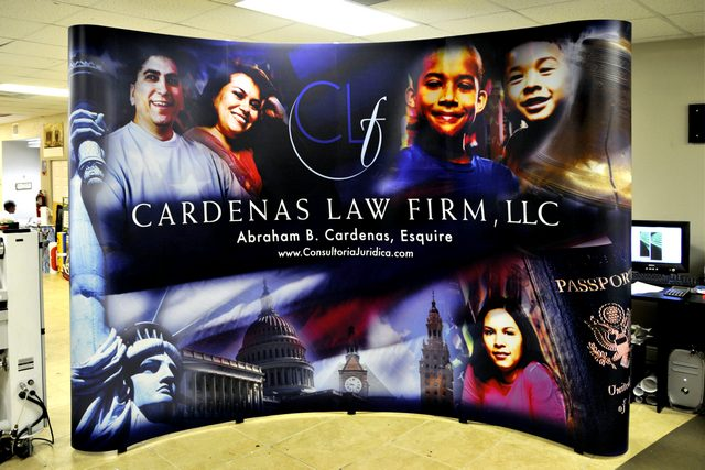 Cardenas Law Firm Booth Graphic