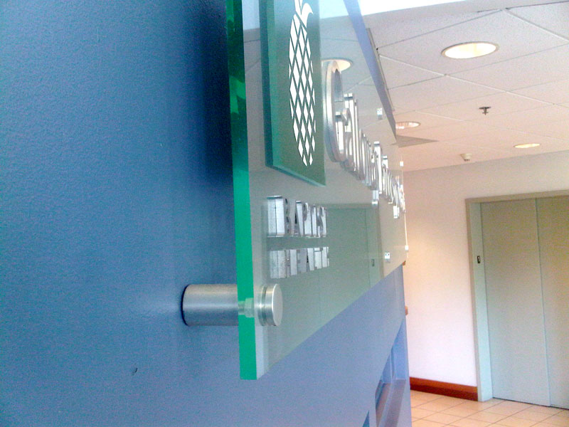 Glass and Polished Metal Letters